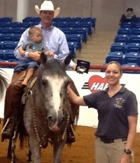 Denise and competitor at the National Appaloosa Show in Fort Worth, TX