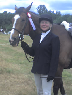 Hunt Seat riding student Jill Ritchie